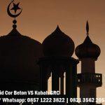 kubah masjid cor beton