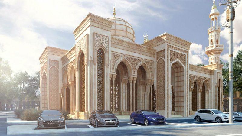 Desain Kekinian Masjid Darussalam OKU, Sumsel Karya Assiry Art